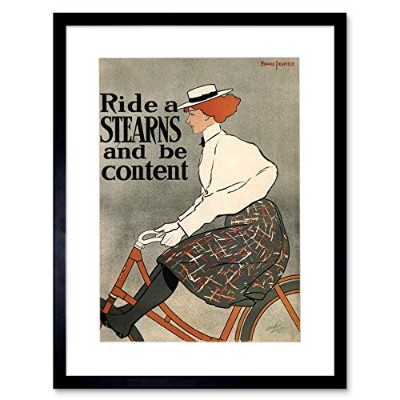 Stearns Bicycle Ad Retro Wall Picture Framed Wall Art Print 自転車レトロ壁画像壁