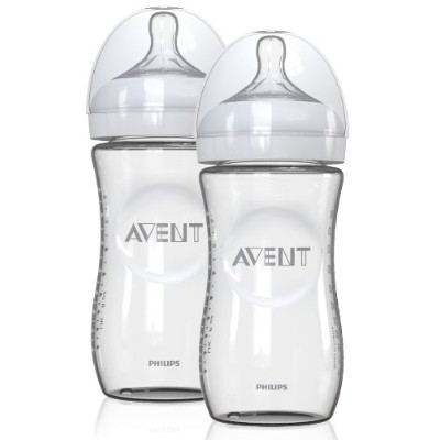 Avent Natural Slow Flow Glass Bottles (4 oz.) - colors as shown, one size by Philips AVENT
