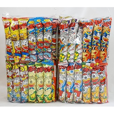 Assorted Japanese Junk Food Snack Umaibo 100 Packs of 11 Types (2 Package Set of 50 Packs) by...