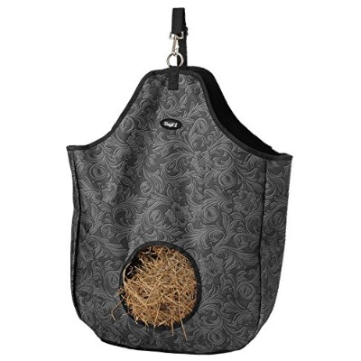 (Tooled Leather Black) - Tough 1 Nylon Hay Tote Bag in Prints