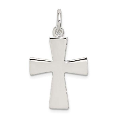 Beautiful Sterling silver 925 sterling Sterling Silver Latin Cross Charm comes with a Free Jewelry...