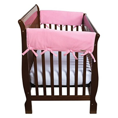 Trend Lab Fleece CribWrap Rail Covers for Crib Sides (Set of 2), Pink, Wide for Crib Rails...