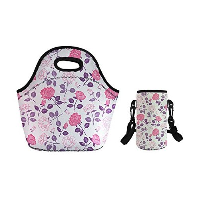 Youngerbaby Insulated Neoprene Lunchバッグwith Adjustable Shoulderストラップボトルホルダーforレディース&メンズ旅行、ピクニック...
