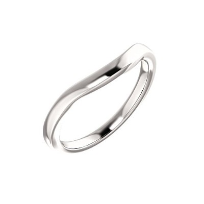 Beautiful White-gold Wedding Band comes with a Free Jewelry Gift
