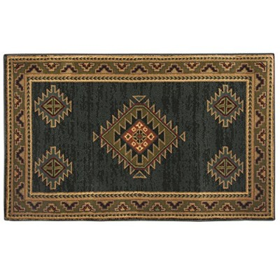 Goods Of The Woods High Country AdobeグリーンHearth Rug