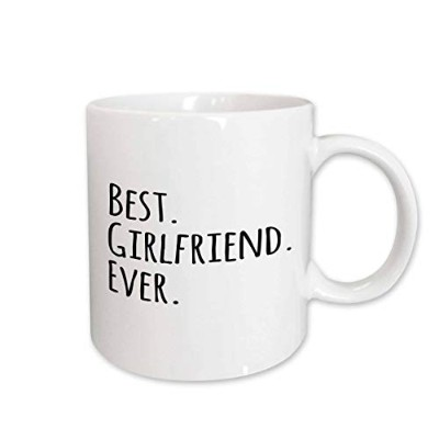 (440ml) - 3dRose mug_151503_2 Best Girlfriend Ever Fun Romantic Love and Dating Gifts for Her for...
