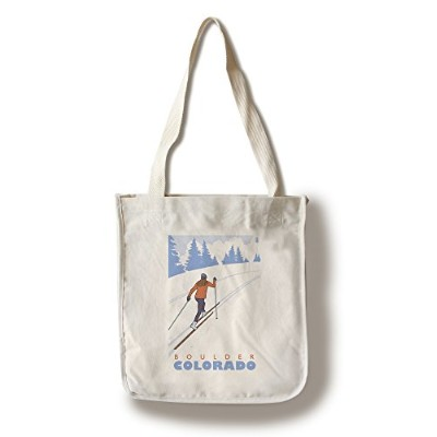 Boulder、コロラド – Cross Country Skier Canvas Tote Bag LANT-48969-TT