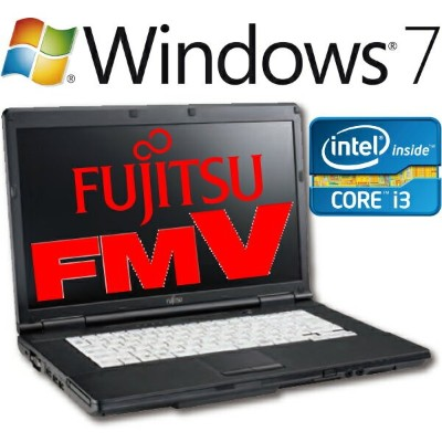 【中古】Fujitsu ノートパソコン LIFEBOOK 本体 Core i3 2310M Windows7 Professional 64bit 富士通 A561/C FMVNA4PE...