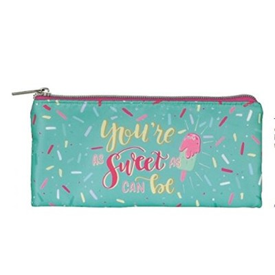 "You 're as Sweet as Can Be Make Up Pouch , 8 "" W x 4 "" H"