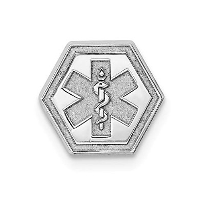 Beautiful Sterling silver 925 sterling Sterling Silver Rhod-plt Non-enameled Attachable Emblem...