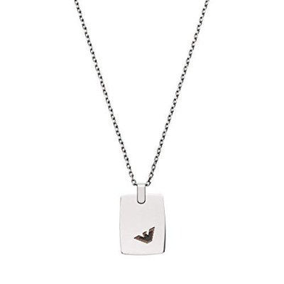 [男性用ネックレス]Emporio Armani Men's Silver Chain Necklace EGS2471040[平行輸入品]
