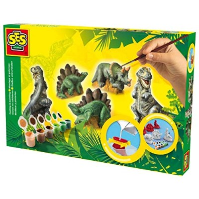 SES Creative Children's Dinosaurs Casting and Painting Set