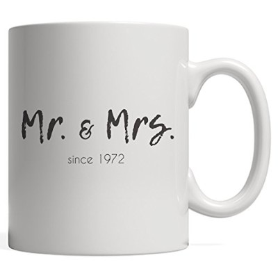 Mr。and Mrs Since 1972 Marriageマグ – Cute Funny 46thウェディング誕生日ギフトHappy Married Couple Mr And Mrs...