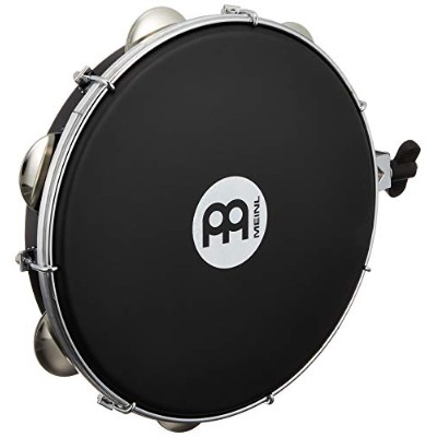 """MEINL Percussion マイネル パンデイロ Traditional ABS Pandeiro with Holder 10"""" PA10A-BK-NH-H 【国内正規品】"""