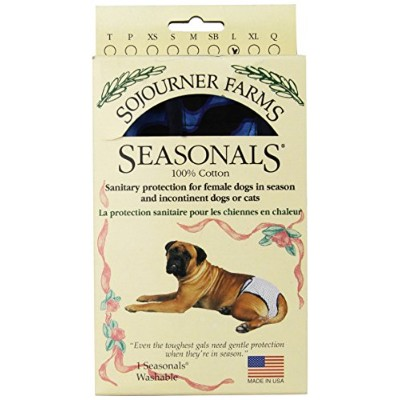Seasonals Washable Dog Diaper, Fits Large Dogs, Blue Flames by Seasonals