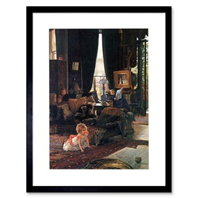 Painting Tissot Hide Seek Old Master Framed Wall Art Print