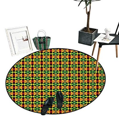 Keep Calm Round Small Door Mat 赤と白の構成 Keep Calm and Carry On Text and Royal UK Crown Living Dinning...