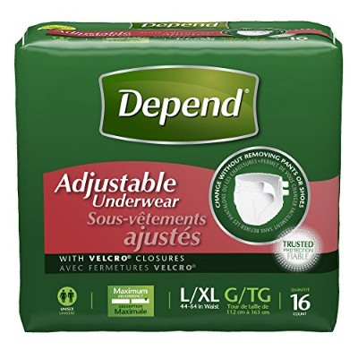 Depend Adjustable Incontinence Underwear, Maximum Absorbency, Large/X-Large, 16 Count by Depend