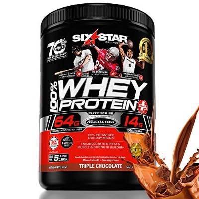 Six Star Pro Nutrition Elite Series Whey Protein Powder, Triple Chocolate, 5lb (Packaging may vary)...