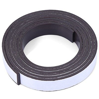 10 X 1.5mm 1m Self-adhesive Flexible Rubber Magnet Tape Roll