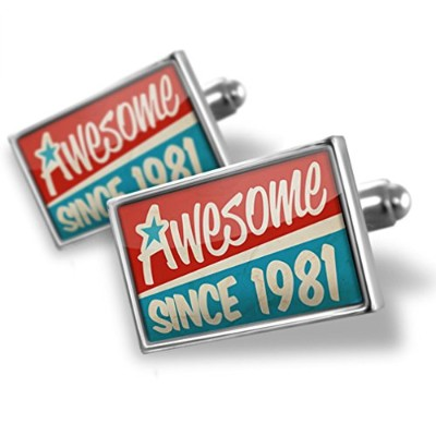 Cufflinks Awesome Since 1981、誕生日/年–Neonblond
