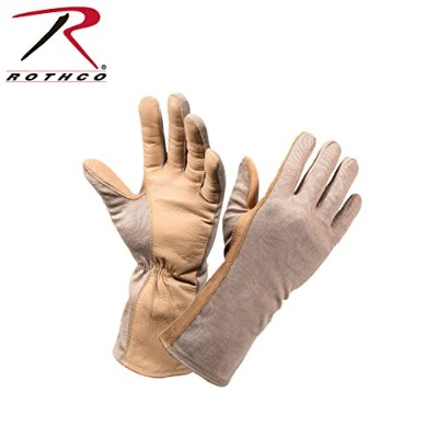 G。I。Type Flame & Heat Resistant Flight Gloves ブラウン