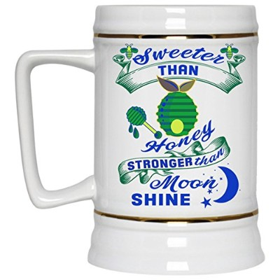 Cute Gift for My Daughter Beer Mug, Sweeter Than Honey Stronger Than Moon Shineビールジョッキ22oz 22 OZ...