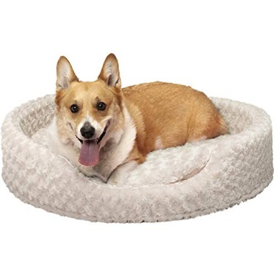 Furhaven Pet NAP Oval Ultra Plush Bed for Dog or Cat, X-Large, Cream by Furhaven Pet