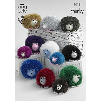 King Cole Hedgehog Toys Knitting Pattern 9015 Chunky by King Cole