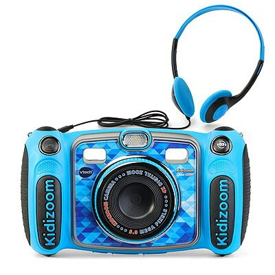 VTech Kidizoom Camera DUO 5.0 Deluxe ブルーDigital Selfie Camera with MP3 Player and Headphones Blue...