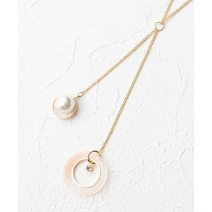 【grove(グローブ)】 アクリルフープ&パールパーツY字ネックレス OUTLET > アクセサリー > ネックレス ベビーピンク