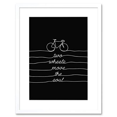 Bicycle Quote Two Wheels Move Soul Bike Framed Wall Art Print 自転車見積もり自転車壁