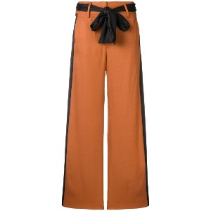Just Cavalli contrasting side panels trousers - ブラウン