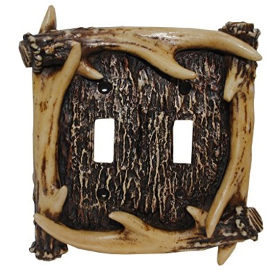 [HiEndアクセント]HiEnd Accents Rustic Antler Double Switch Plate LD8200-DS-OC [並行輸入品]