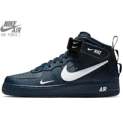 NIKE AIR FORCE 1 MID 07 LV8 804609-403 OBSIDIAN/BLACK/TOUR YELLOW/WHITEナイキ エア フォース 1 '07 ミッド エレベート...