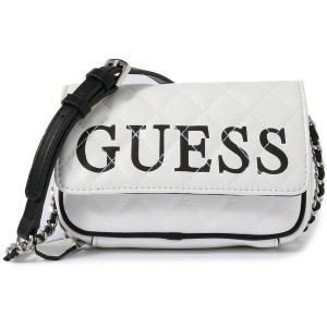 ゲス GUESS CALIFORNIA DREAM CONVERTIBLE CROSSBODY BELT BAG (WHITE MULTI) レディース