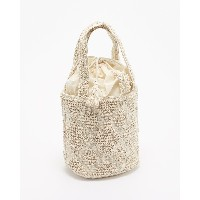 SWARJ BUBBLE JACQUARD BUCKET BAG HANDLOOM(手織り)○Swaraj BW040950181 Off white カバン・バッグ