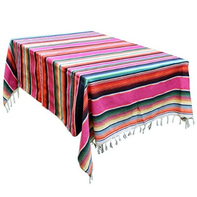 OurWarm 150cm x 210cm Mexican Blanket Tablecloth for Mexican Wedding Party Decorations, Large...