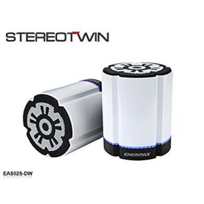 ENERMAX 2台同時ペアリング機能搭載 Bluetooth スピーカー 【2台セット】STEREOTWIN EAS02S ホワイト
