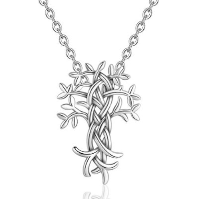 Sterling Silver Tree of Life Pendant Necklace for Women [並行輸入品]