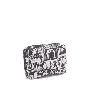 LeSportsac EXTRA LARGE RECTANGULAR COSMETIC○7121D993 Symphony garden メイクアップ