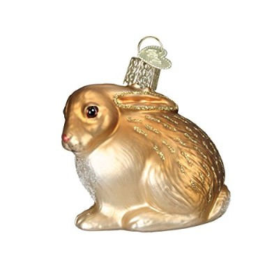 (Assorted) - Old World Christmas Cottontail Bunny Glass Blown Ornament