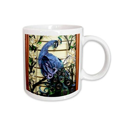 (440ml) - 3dRose Peacock Proud Ceramic Mug, 440ml