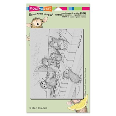 Stampendous Cling Musical Mice Rubber Stamp by STAMPENDOUS