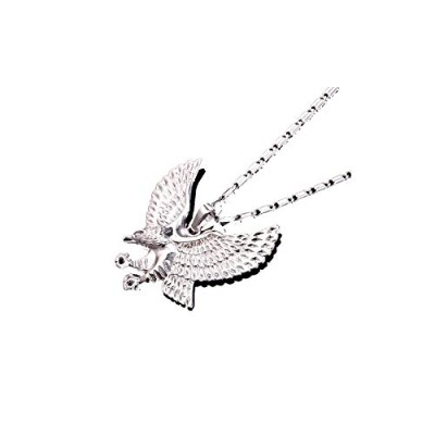 Classic Platinum Plated Eagle Wing Charm Pendant Necklace [並行輸入品]