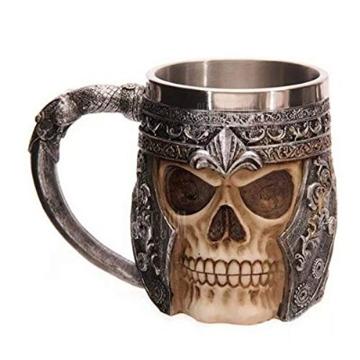 BALDR 3D Skull Dragon Claw Knight Skeleton Spine Stainless Steel Cup Coffee Mug