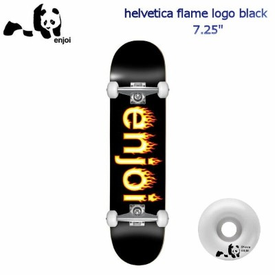 【enjoi】エンジョイ HELVETICA FLAME LOGO BLACK 7.25 COMPLETE SKATEBOARD キッズ ジュニア 子供用 コンプリートデッキ スケートボード 板...