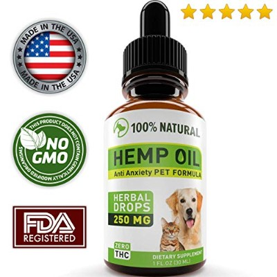 Hemp Oil for Dogs and Cats–フルスペクトルHemp Extract 250mg–Grown & Made in USA–すべての自然Pain Relief犬...