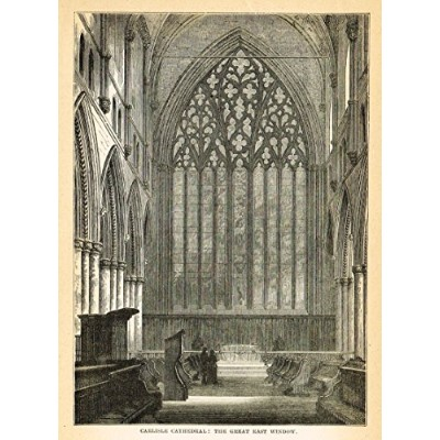 Our National Cathedrals–Carlisle Cathedrale–Eastウィンドウ–木製彫刻–1887