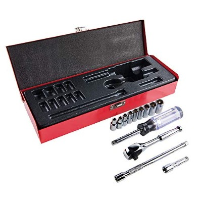 Klein Tools 65500 1/4-Inch Drive Socket Wrench Set, 13-Piece by Klein [並行輸入品]